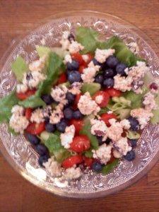 Salad with Chicken Salad