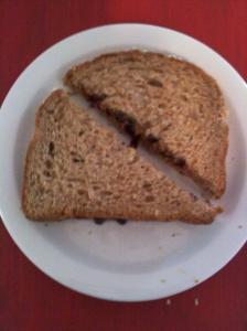 Phia's Perfect SFSB&GJ Sandwich cut Nana Stewart Style
