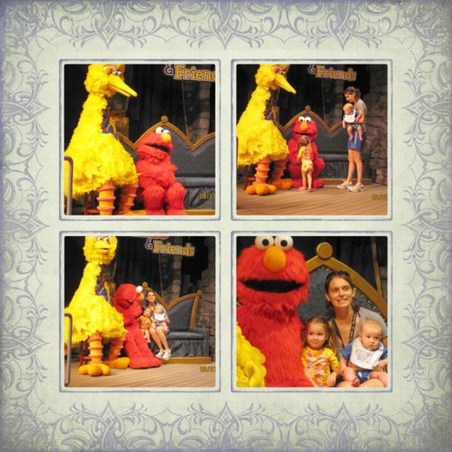 meeting Big Bird & Elmo
